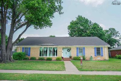 Wichita Falls Single Family Home Active W/Option Contract: 2607 N Leighton Circle