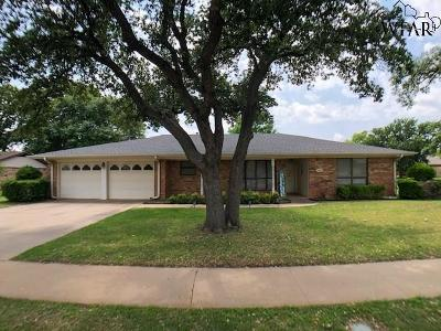 Wichita Falls Single Family Home Active W/Option Contract: 3000 Cromwell Avenue