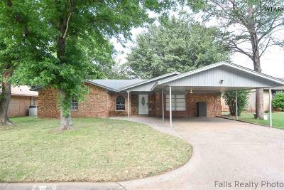 Burkburnett Single Family Home Active W/Option Contract: 725 Gayle Street