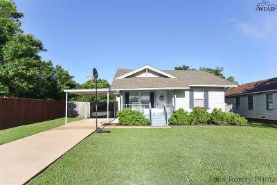 Wichita Falls Single Family Home Active W/Option Contract: 2128 Richmond Drive