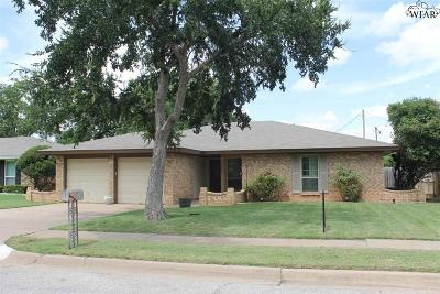 Wichita Falls Single Family Home Active W/Option Contract: 4605 Misty Valley Street East
