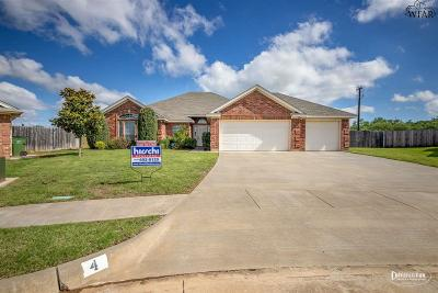 Wichita Falls Single Family Home Active W/Option Contract: 4 Jessica Court