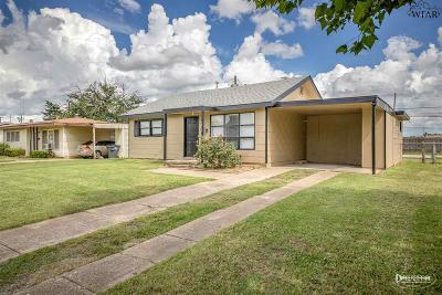 Wichita Falls Single Family Home Active W/Option Contract: 2905 Cunningham Drive