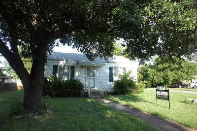 Wichita Falls TX Single Family Home Active W/Option Contract: $47,500