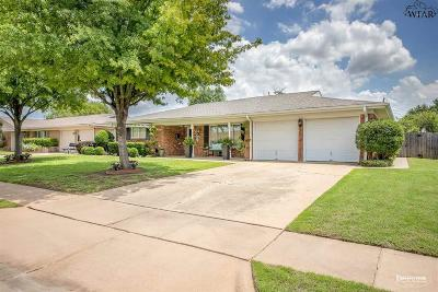 Wichita Falls Single Family Home Active W/Option Contract: 1529 Sweetbriar Drive