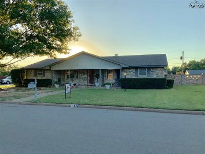 Burkburnett Single Family Home For Sale: 930 Tejas Drive