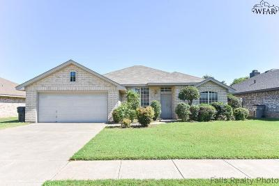 Wichita Falls Single Family Home Active W/Option Contract: 5305 Blue Stem Drive