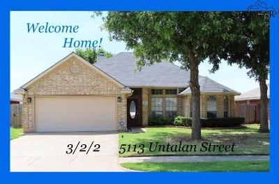 Wichita Falls Single Family Home For Sale: 5113 Untalan Street