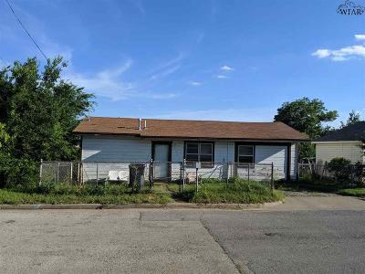 Archer County, Baylor County, Clay County, Jack County, Throckmorton County, Wichita County, Wise County Single Family Home For Sale: 2211 Third Street