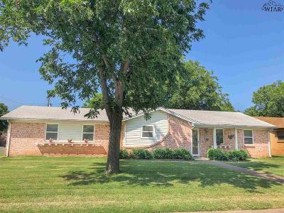 Iowa Park Single Family Home Active W/Option Contract: 1101 Lincoln Drive
