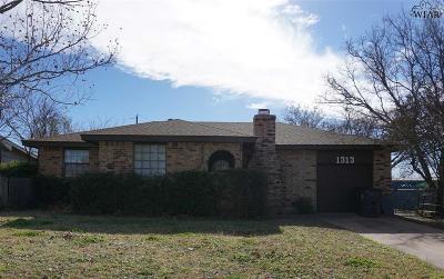 Wichita Falls Single Family Home For Sale: 1313 Hunt Street