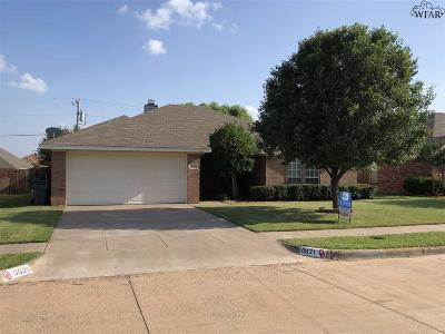 Wichita Falls Single Family Home Active W/Option Contract: 6021 Van Dorn Drive