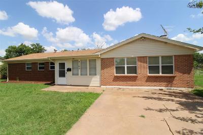 Wichita Falls Single Family Home Active W/Option Contract: 4103 Thelma Drive