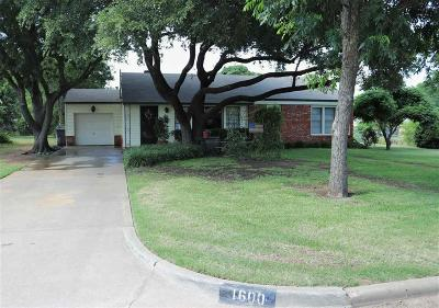 Wichita Falls Single Family Home For Sale: 1600 Sparks Street