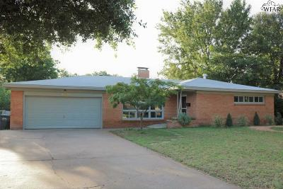 Wichita Falls Single Family Home For Sale: 4703 Nursery Street