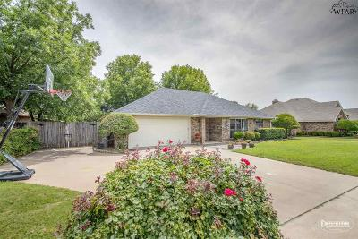 Wichita Falls Single Family Home Active W/Option Contract: 1624 Tanglewood Drive
