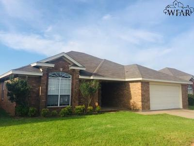 Wichita Falls Single Family Home Active W/Option Contract: 6047 Laci Lane