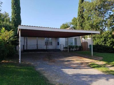 Burkburnett TX Single Family Home For Sale: $44,900