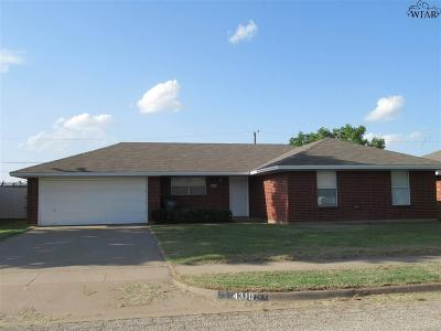Wichita Falls Single Family Home Active W/Option Contract: 4310 Crestview