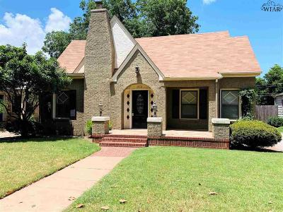 Wichita Falls Single Family Home For Sale: 1810 Speedway Avenue