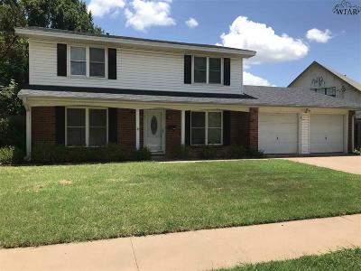 Wichita Falls Single Family Home Active W/Option Contract: 5203 Allegheny Drive