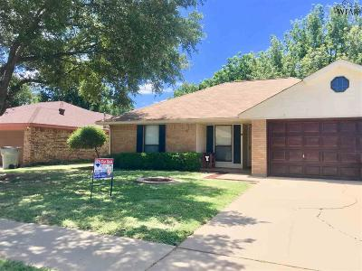 Wichita Falls TX Single Family Home Active W/Option Contract: $138,000