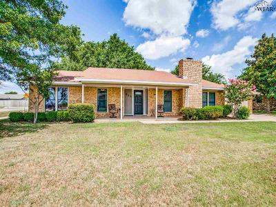 Burkburnett TX Single Family Home Active W/Option Contract: $199,000