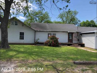 Burkburnett TX Single Family Home For Sale: $82,900