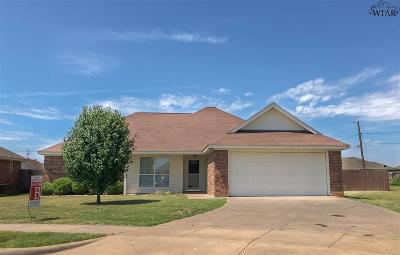 Wichita Falls TX Single Family Home Active W/Option Contract: $149,900