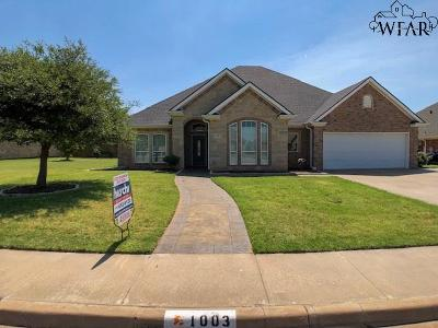 Burkburnett Single Family Home For Sale: 1003 Corbin Drive
