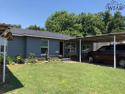 Burkburnett TX Single Family Home For Sale: $99,000