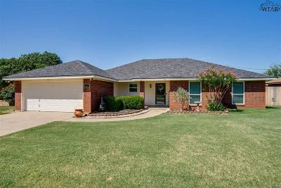 Wichita Falls Single Family Home Active W/Option Contract: 4607 Misty Valley Street East