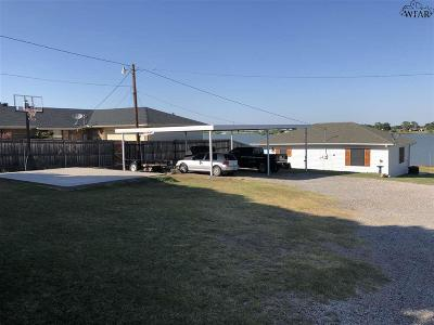 Archer County Single Family Home Active W/Option Contract: 413 Shoreline Drive