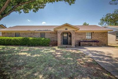 Wichita Falls TX Single Family Home For Sale: $127,900