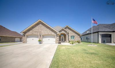 Burkburnett Single Family Home Active W/Option Contract: 816 Coulter Drive
