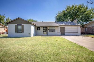 Wichita Falls Single Family Home For Sale: 4810 Catalina Drive