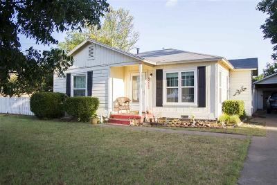 Wichita Falls TX Single Family Home Active W/Option Contract: $110,000