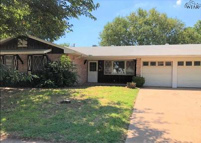 Wichita Falls TX Single Family Home For Sale: $84,500