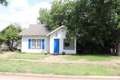 Wichita Falls TX Single Family Home For Sale: $94,500