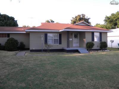 Burkburnett Single Family Home For Sale: 733 W 3rd Street