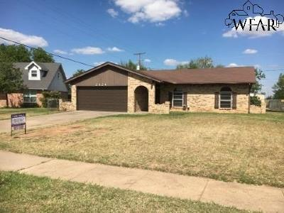 Wichita Falls Single Family Home For Sale: 2124 Selma Drive