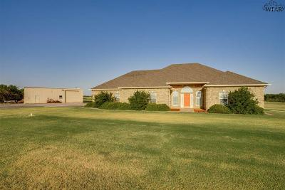 Archer County, Baylor County, Clay County, Jack County, Throckmorton County, Wichita County, Wise County Single Family Home For Sale: 9709 Seymour Highway