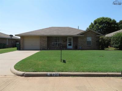 Iowa Park Single Family Home For Sale: 1214 Richland Street