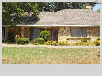 Burkburnett Single Family Home For Sale: 910 Tejas Drive
