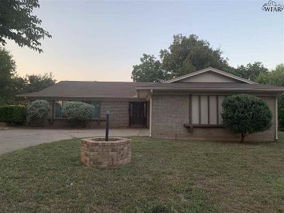 Burkburnett Single Family Home For Sale: 1022 Jan Lee Drive