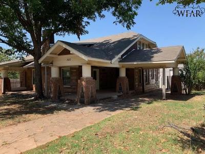 Wichita Falls Single Family Home For Sale: 1510 Garfield Street