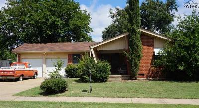Wichita Falls Single Family Home For Sale: 4625 Pendleton Drive