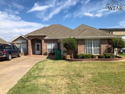 Wichita Falls TX Single Family Home Active W/Option Contract: $194,900