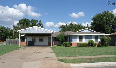 Wichita Falls TX Single Family Home For Sale: $134,500