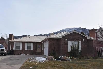 Cedar City UT Single Family Home For Sale: $269,000